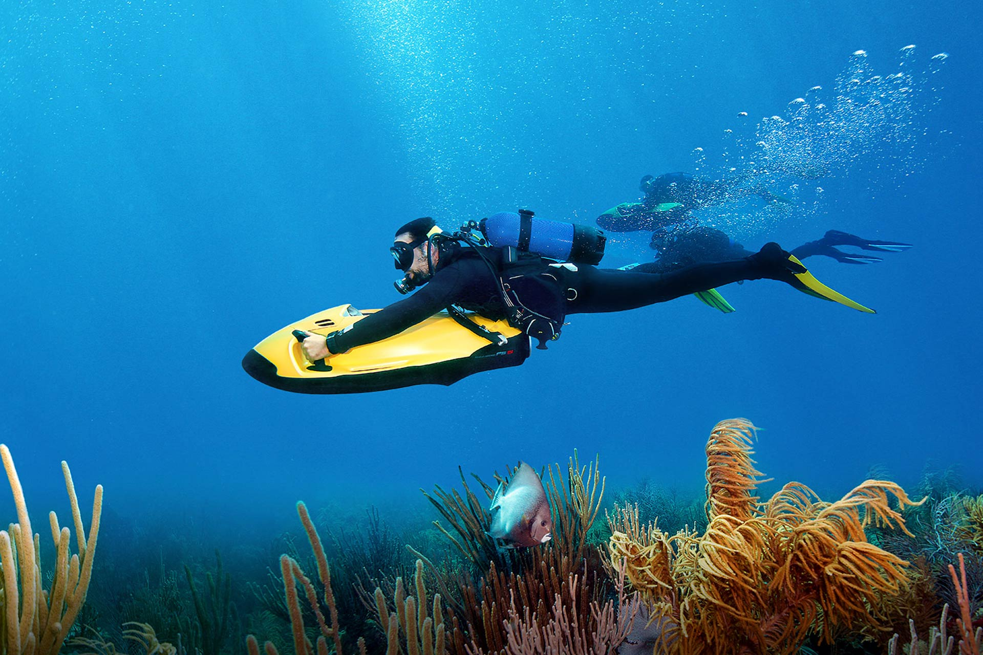 SEABOB diving under water