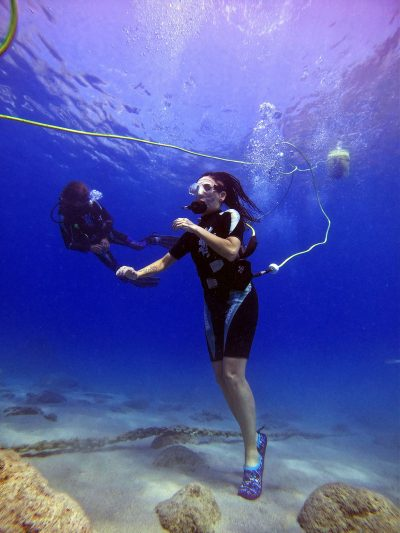Peter diving system, dive without a tank on your back